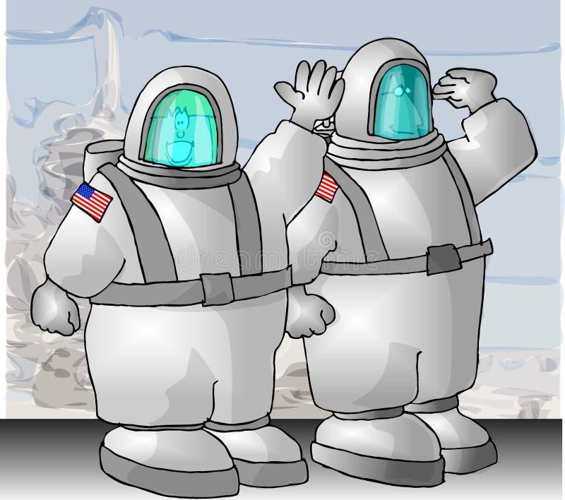 astronauci nas royalty ilustracja