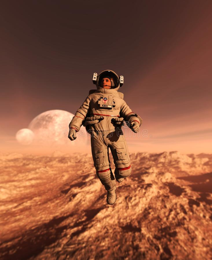 Astronaut royalty-vrije illustratie