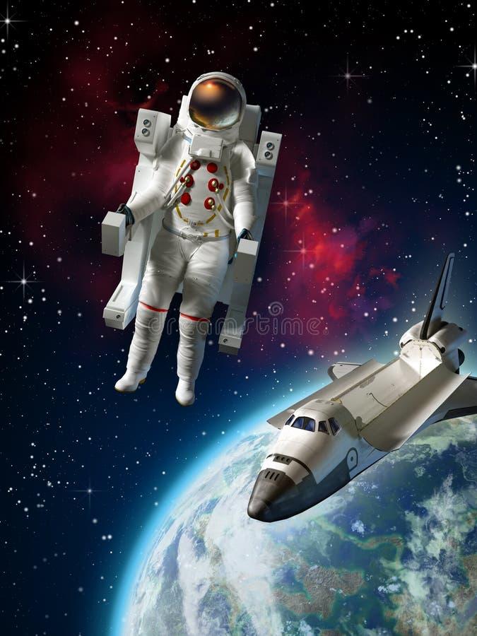 Download Astronaut stock illustration. Image of orbiter, person - 12574748