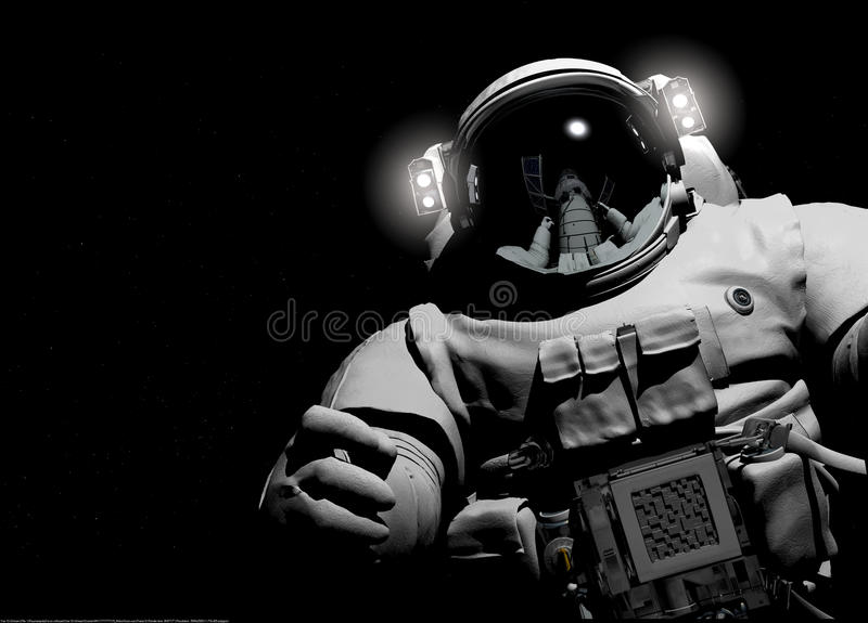 The astronaut. Astronaut on a black background