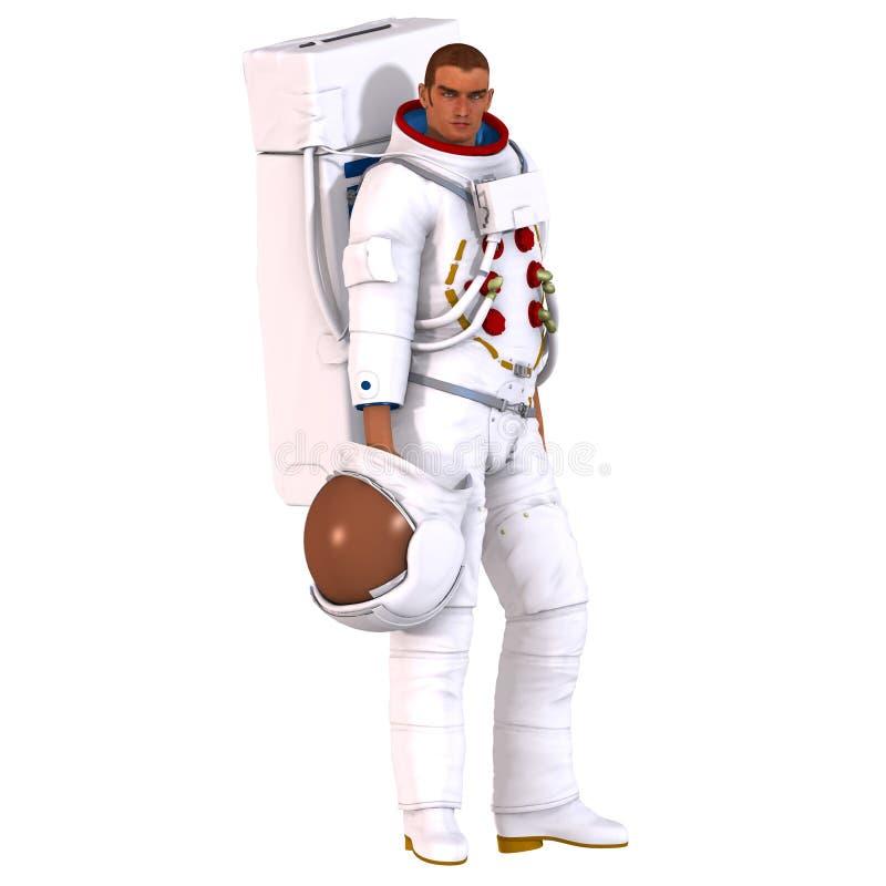 astronaut 3d royaltyfri illustrationer