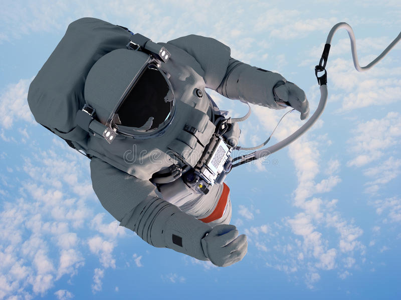 Download Astronaut above the clouds stock illustration. Image of transportation - 35602022