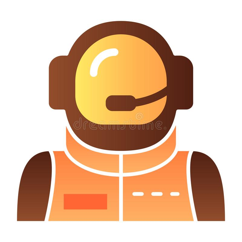 Astronaut avatar flat icon. Spaceman color icons in trendy flat style. Cosmonaut gradient style design, designed for web. And app. Eps 10 vector illustration