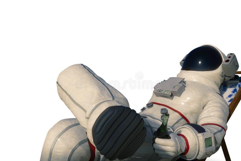 Astronaut on the black background royalty free illustration