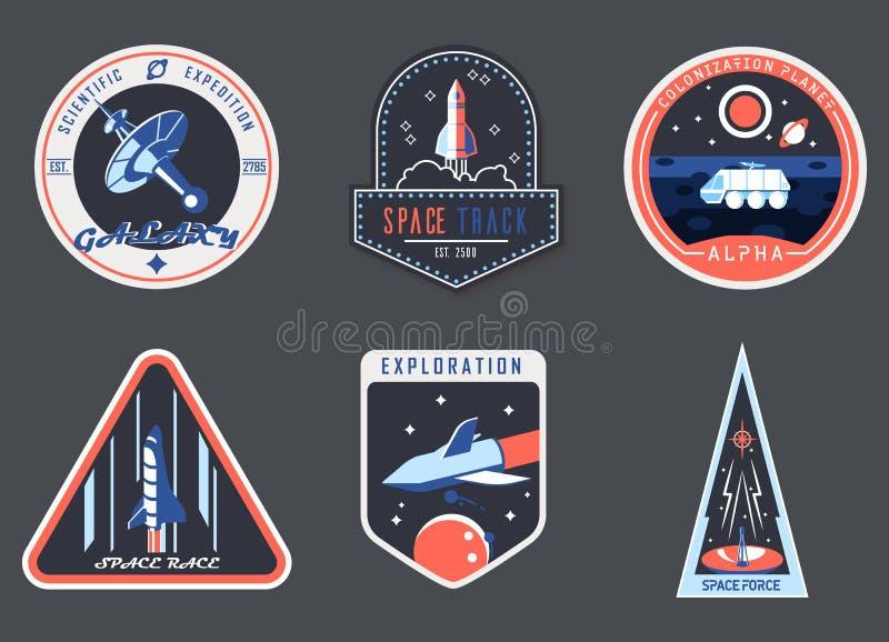 Astronaut chevron or spaceman suit patch,cosmonaut vector illustration