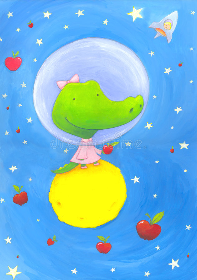 Download Astronaut crocodile stock illustration. Illustration of charming - 8844142