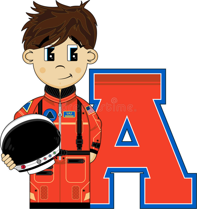 A is for Astronaut royalty free illustration