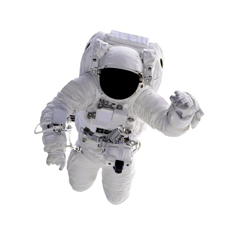Astronaut in space isolated on white background. Elements of this image furnished by NASA stock photos