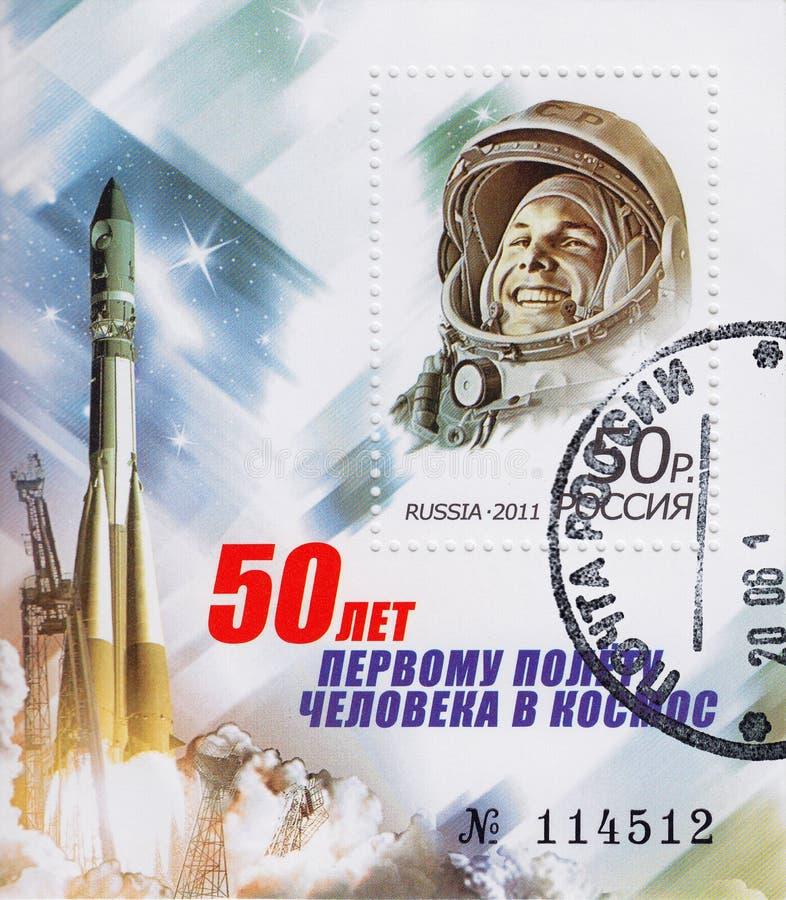 astronaut gagarin yuri fotografering för bildbyråer