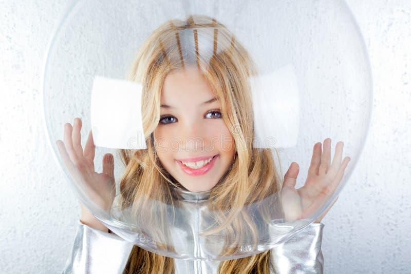 Download Astronaut Girl With Silver Uniform Stock Photo - Image of futuristic, future: 23148434