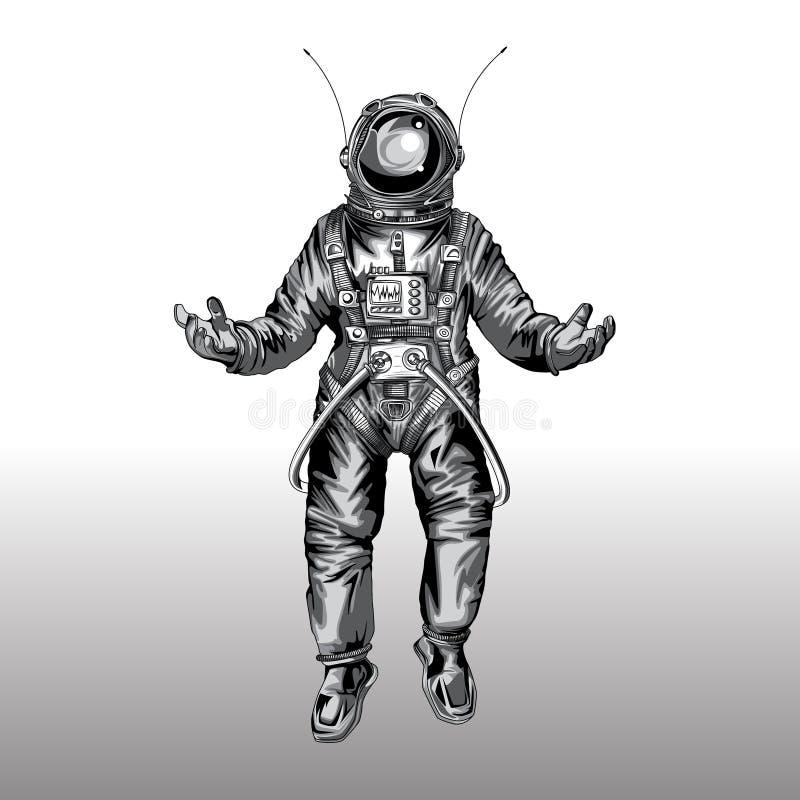 Astronaut i spacesuit på utrymme , royaltyfri fotografi