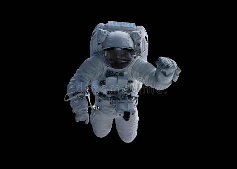 Astronaut isolated on black background 3D rendering elements of vector illustration