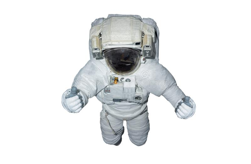 Astronaut isolated on white background 3D rendering elements of vector illustration