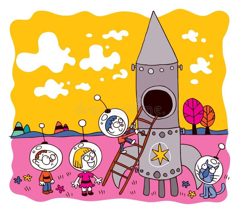 Astronaut kids royalty free illustration