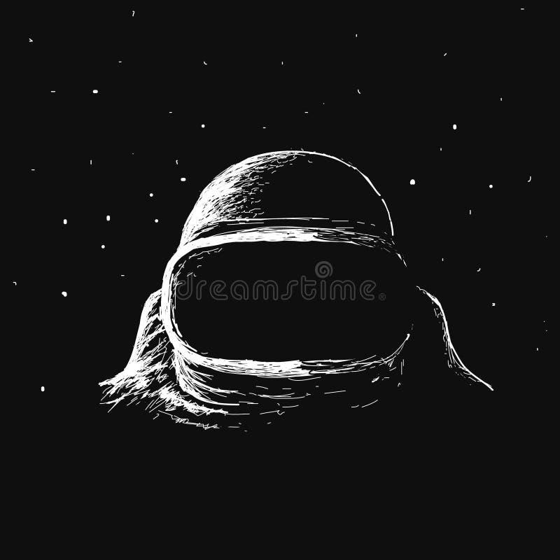 Astronaut in kosmische ruimte vector illustratie