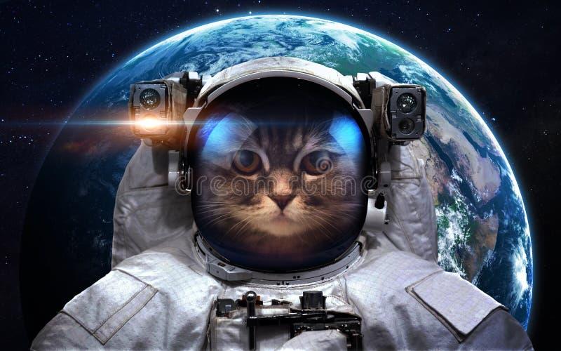 Astronaut in kosmische ruimte spacewalk Elementen van dit die beeld door NASA wordt geleverd royalty-vrije stock afbeeldingen