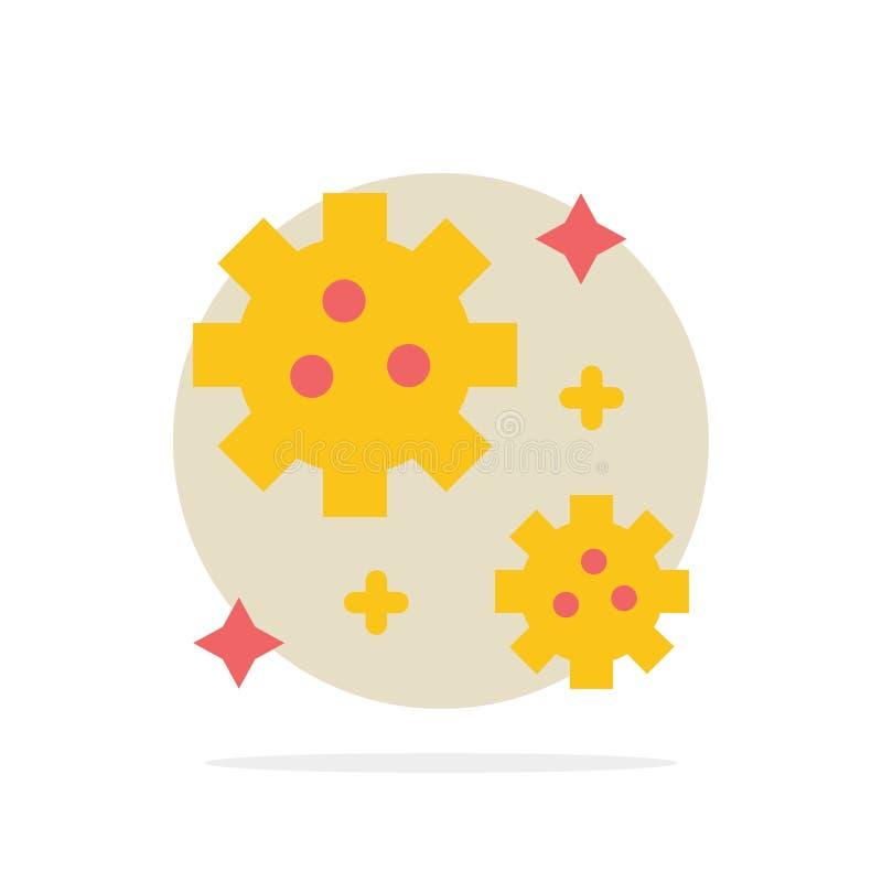 Astronaut meteor, för abstrakt symbol för färg cirkelbakgrund för utrymme plan vektor illustrationer