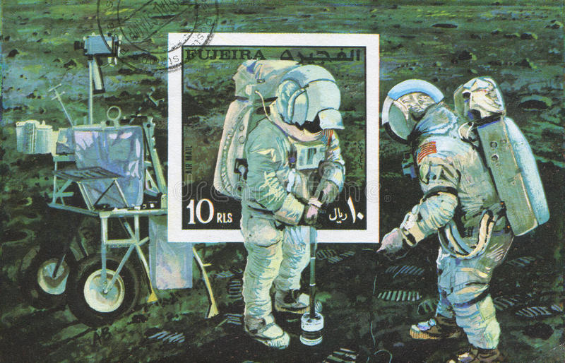 Astronaut Neil Alden Armstrong stock afbeelding