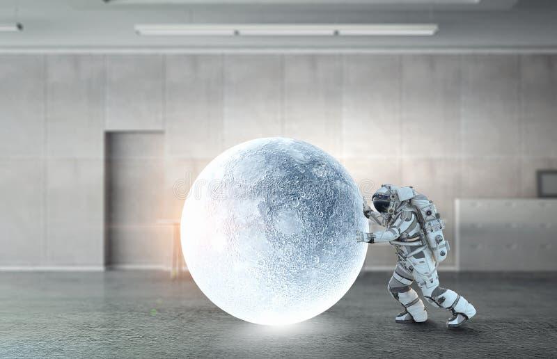Astronaut och hans beskickning Blandat massmedia arkivbilder