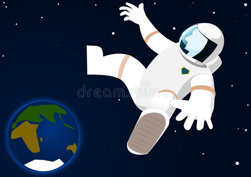 Astronaut In Open Space Royalty Free Stock Images