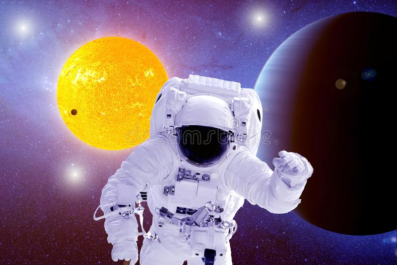 Astronaut on other planets .Elements of this image were furnished by NASA royalty free stock image