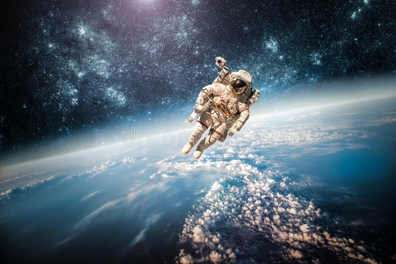 Astronaut in outer space royalty free stock image