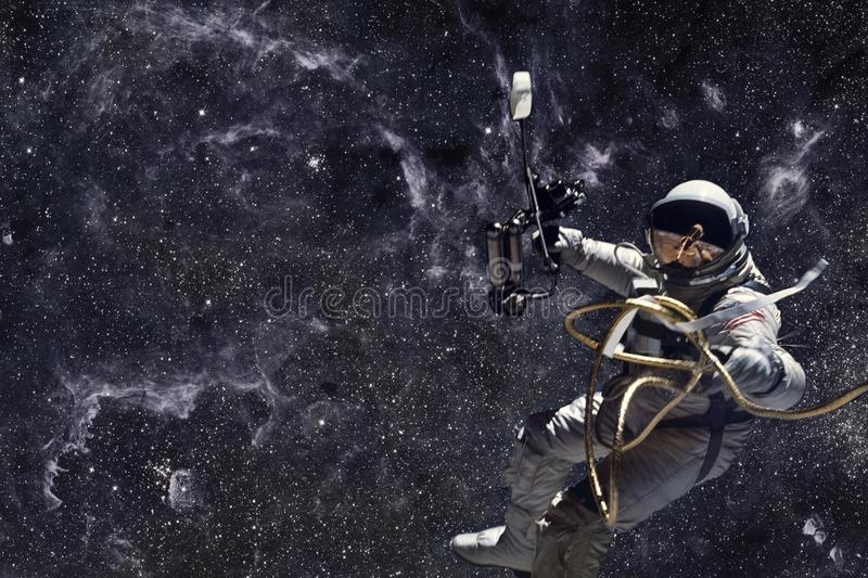Astronaut in outer space. Deep space, beauty of endless cosmos. Science fiction wallpaper. Elements of this image furnished by NASA stock photography