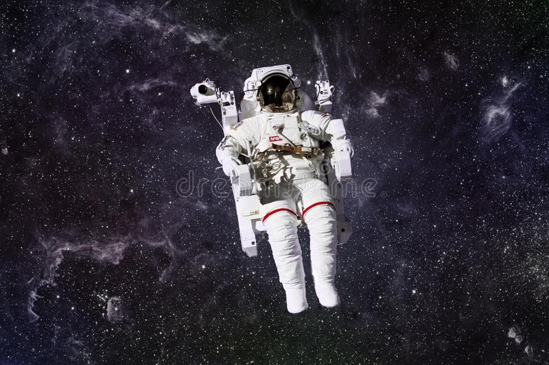 Astronaut in outer space. stock images