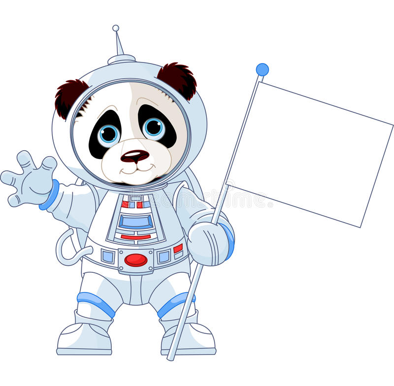 Astronaut Panda vektor illustrationer