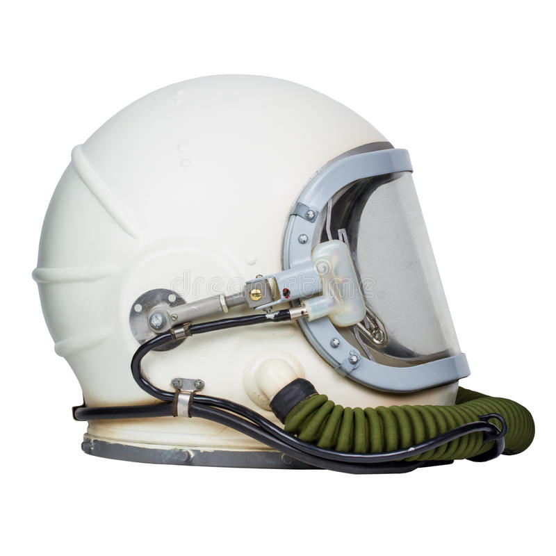 Astronaut's helmet. Vintage space helmet isolated on white background royalty free stock photography