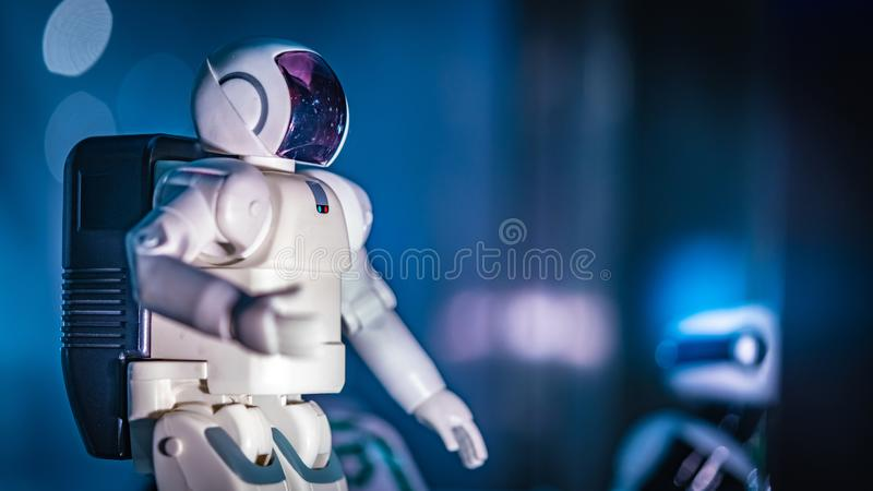 Astronaut Space Adventure Suit Display. For Develop In Advanced Module stock images