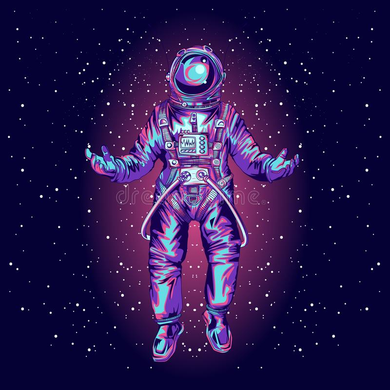 Astronaut in spacesuit on space., stock photo