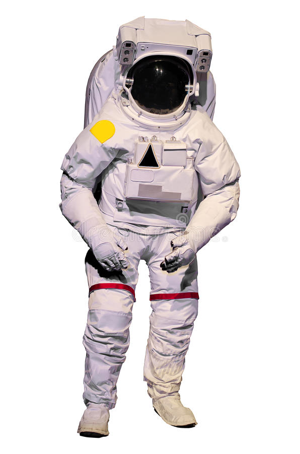Astronaut suit on white background. Astronaut suit isolate on white background royalty free stock photo