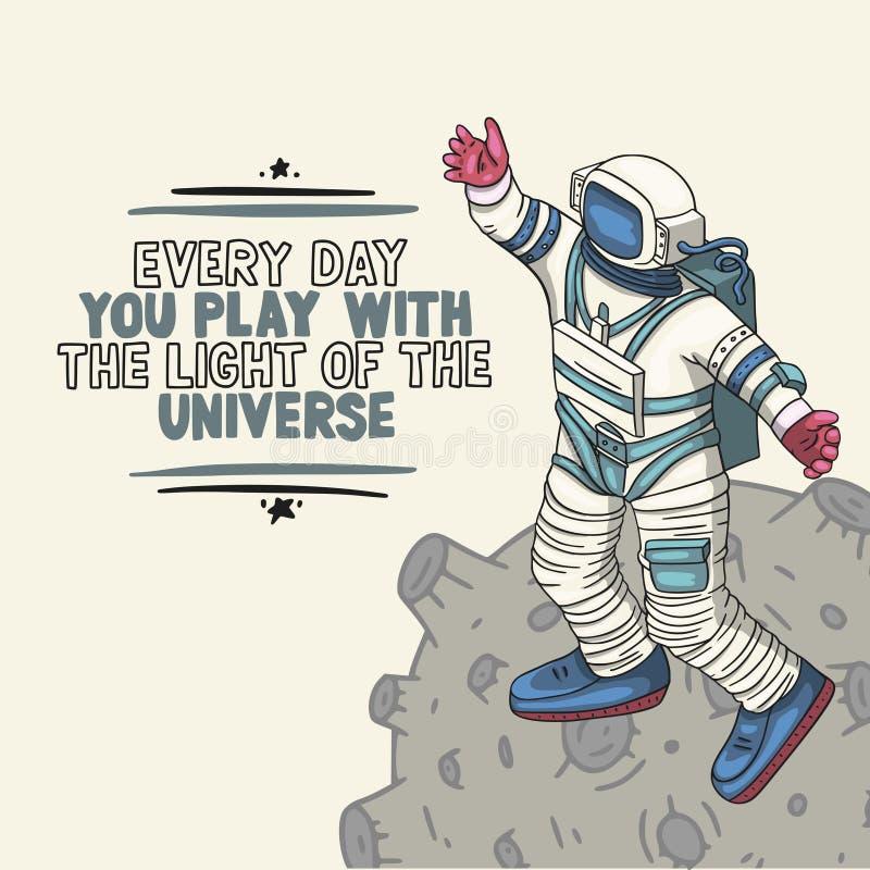Astronaut, vector illustration. royalty free illustration
