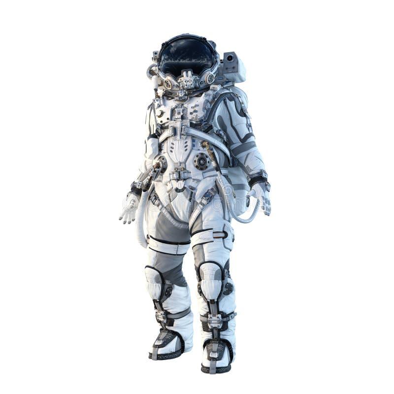 Astronaut on white. Mixed media royalty free stock image