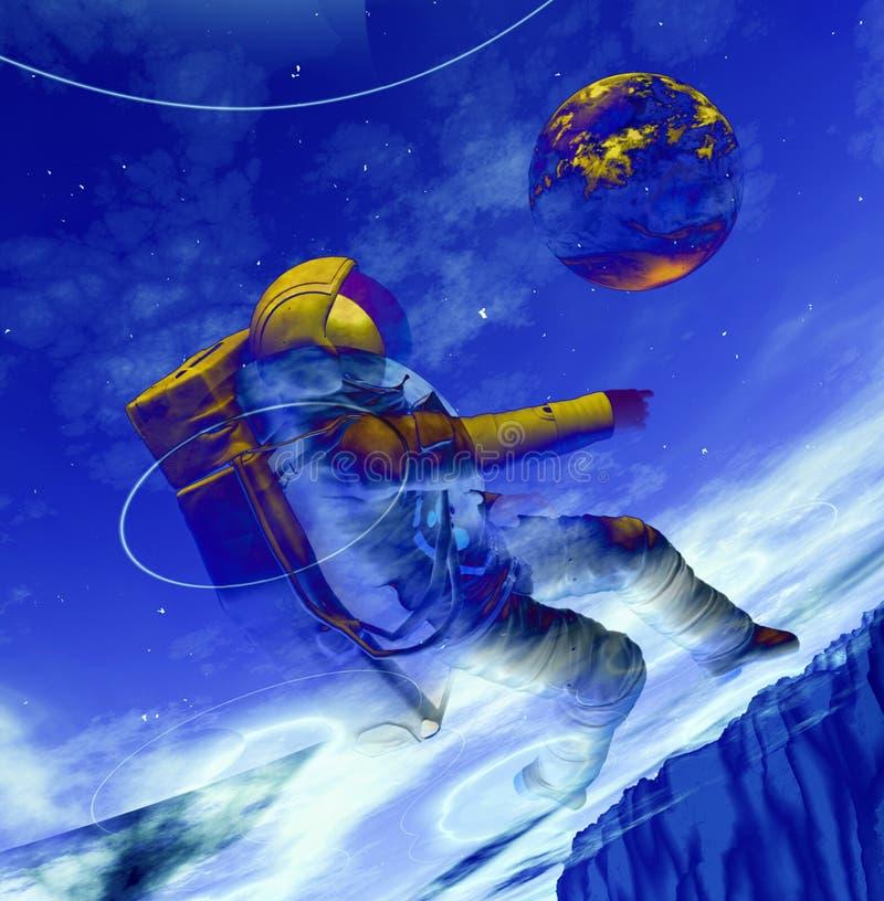 Astronauta 10 stock de ilustración