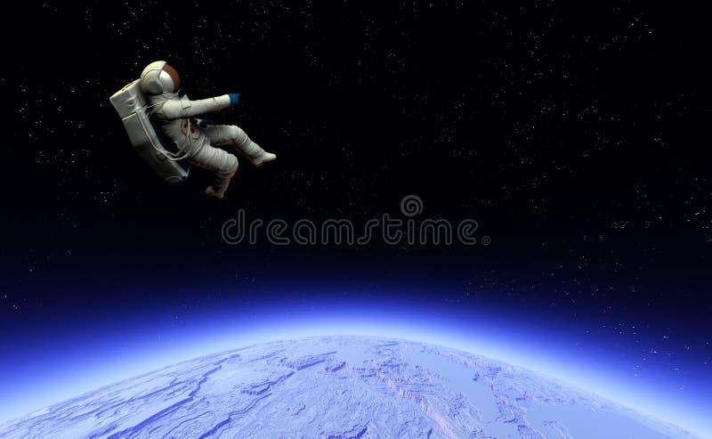 Astronauta 15 ilustración del vector