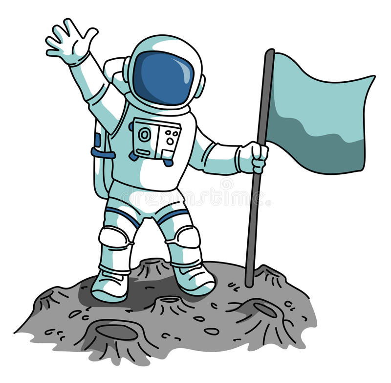 Astronauta ilustração royalty free