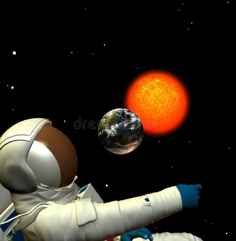 Astronauta 6 illustrazione di stock