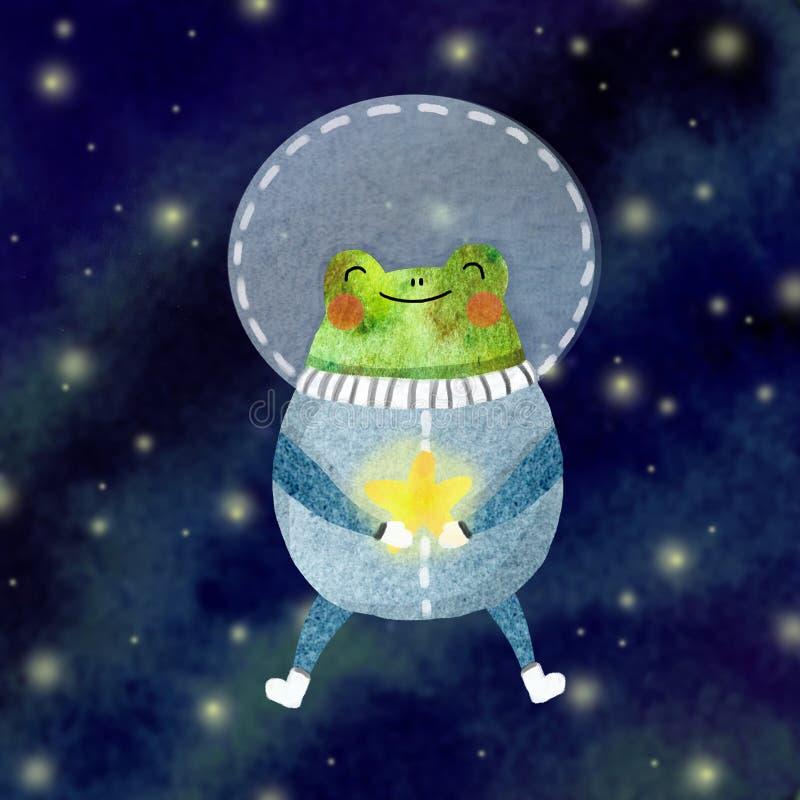 Astronauta alegre stock de ilustración