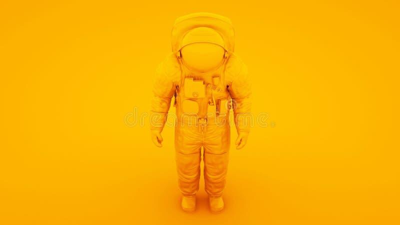 Astronauta astronauta astronauta amarillo Cosmonaut 3d ilustración stock de ilustración