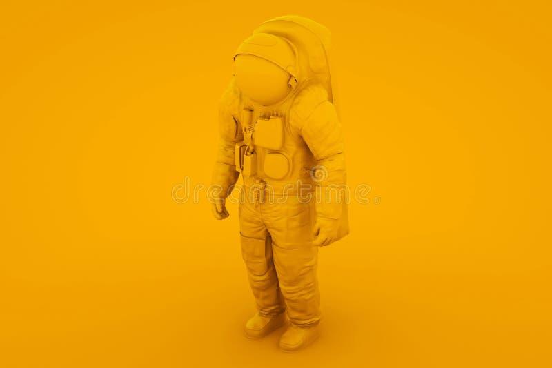 Astronauta astronauta astronauta amarillo Cosmonaut 3d ilustración libre illustration