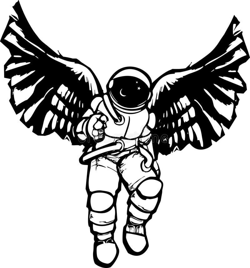 Astronauta Angel ilustração royalty free