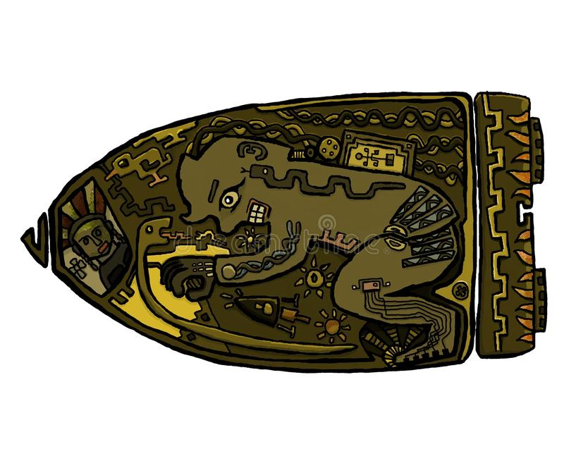 Astronauta antiguo stock de ilustración
