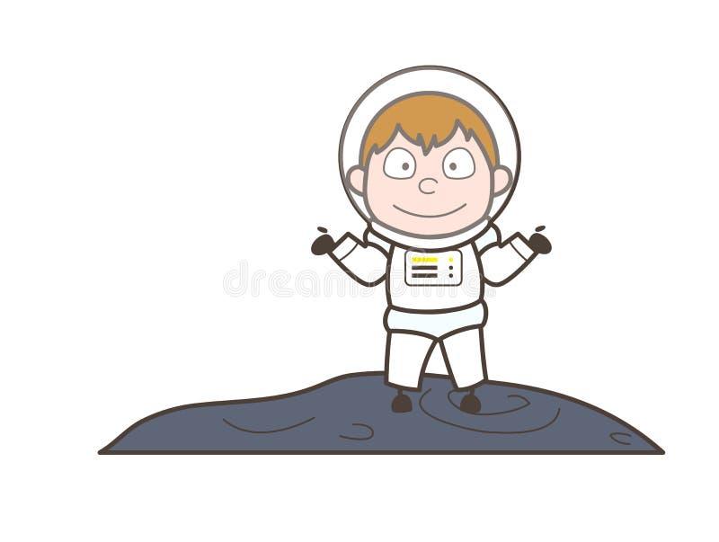 Astronauta Behavior Vector Illustration del fumetto illustrazione di stock