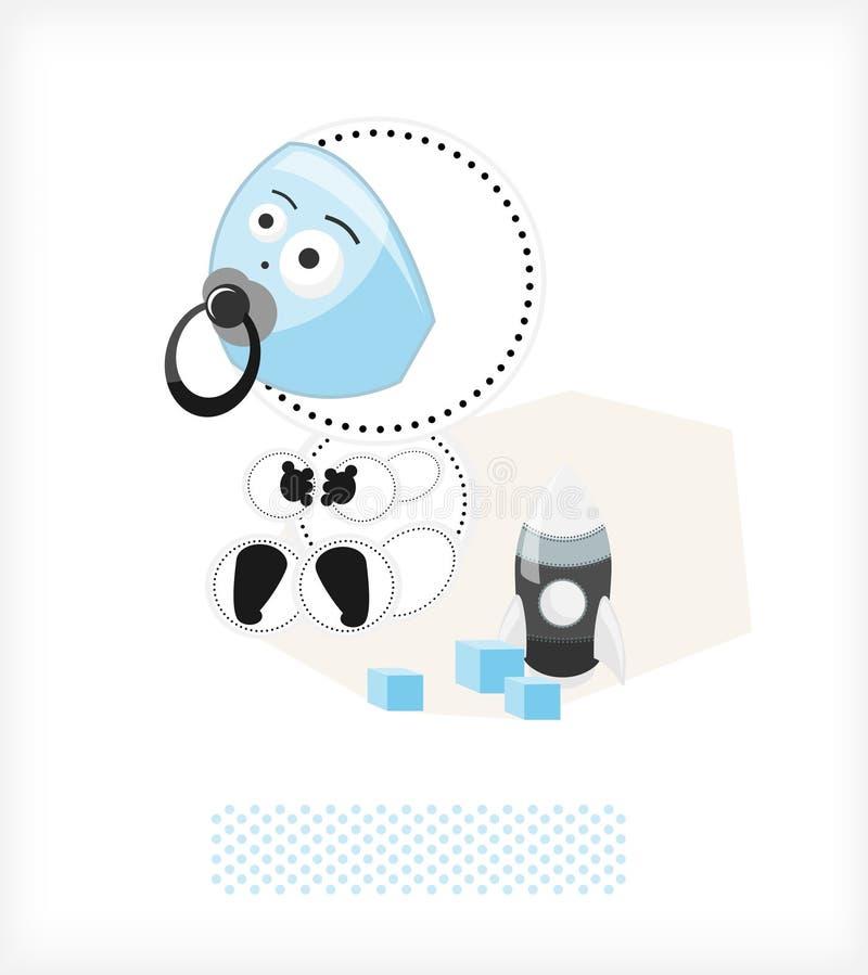 Download Astronauta da criança ilustração do vetor. Ilustração de festa - 16868864