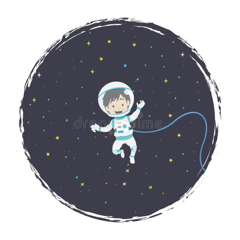 Astronauta de flutuação ilustração royalty free