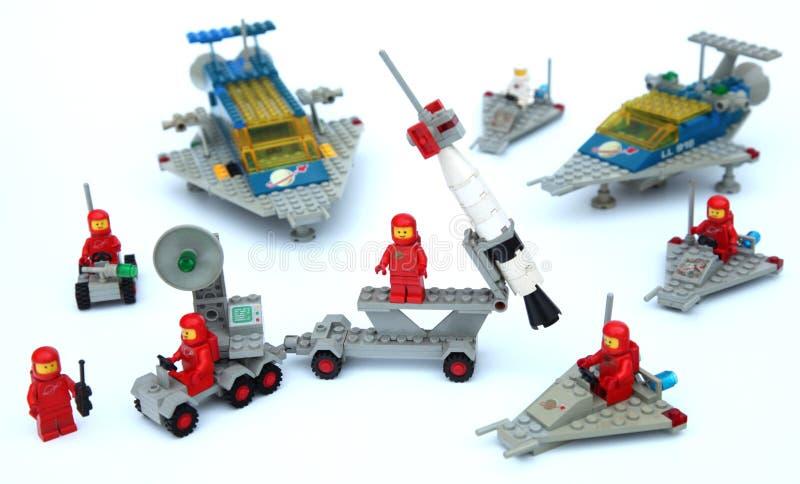 Astronauta de naves espaciales Lego Space foto de archivo libre de regalías