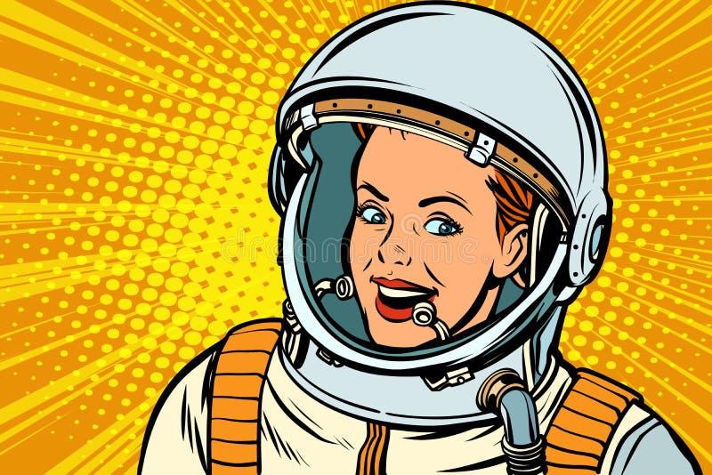 Astronauta della donna di Rsmiling royalty illustrazione gratis