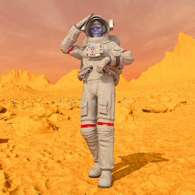 Astronauta dos estrangeiros fotografia de stock royalty free